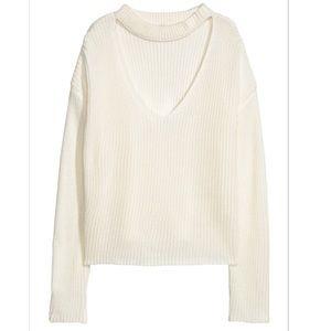 H&M V-Neck Choker Sweater